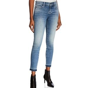Current/Elliott The Stiletto Frayed-Hem Jeans
